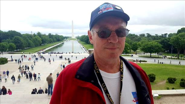 Local veteran takes in the view on a previous Great River Honor Flight.