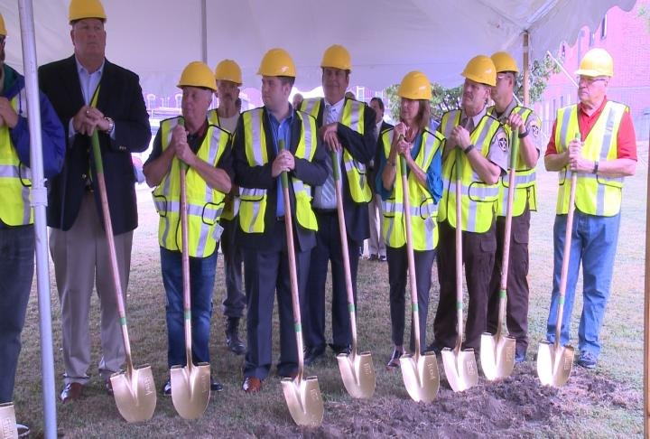 Groundbreaking ceremony for the new Adams County Jail was on Friday.