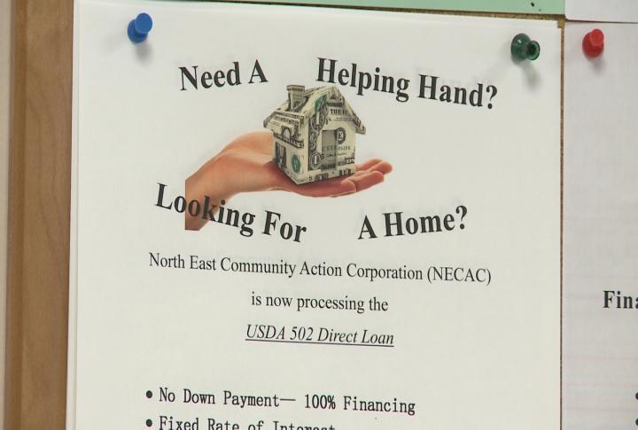 Flyer details about the USDA home loan program.