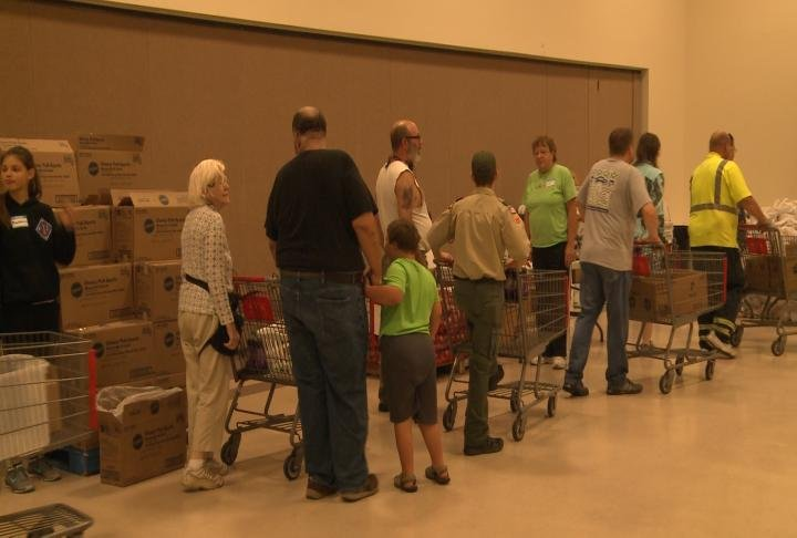 The mobile food pantry took place on Satuday.