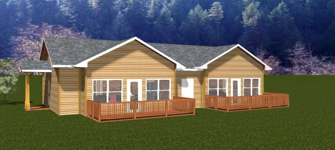 A rendering of what a new cabin will look like