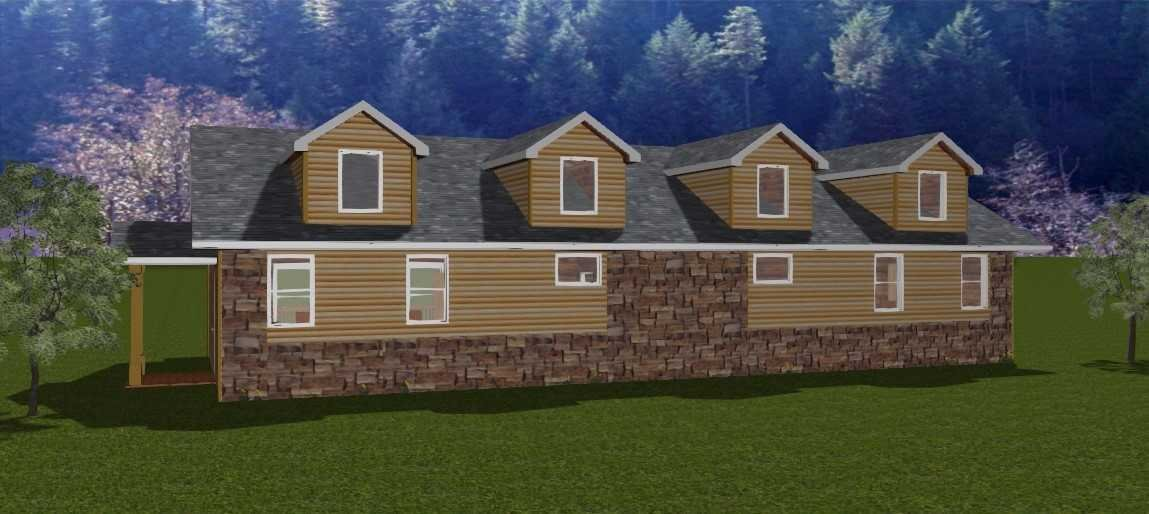 A rendering of what a cabin will look like