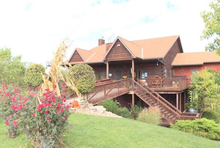 One of the lodges at Harpole's Heartland Lodge
