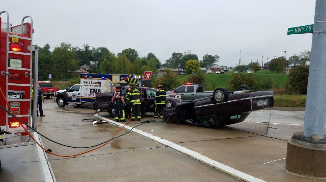 A crash occurred Tuesday morning in Hannibal.