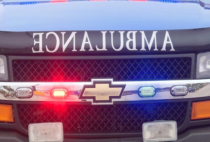 Lights on the ambulance