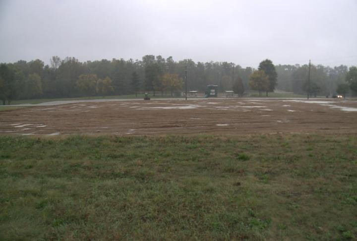 Land leveled off near 36th and Marx Drive.
