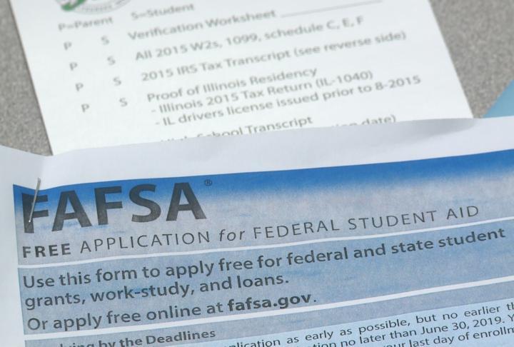 A FAFSA form