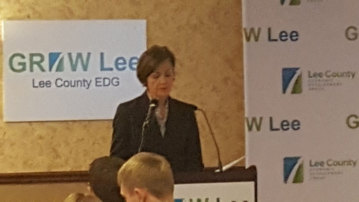 Reynolds discussed the importance of manufacturing in Lee County.
