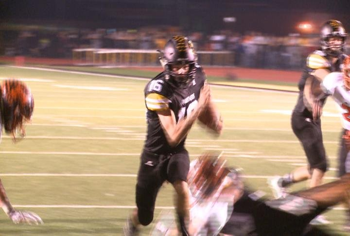 Blake Hays and Monroe City held off Palmyra to retain to the Mayor's Cup.