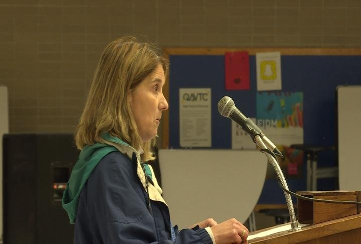 Jacoby spoke about advocating for herself and fellow educators.