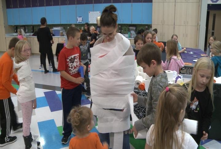 Students held a carnival on Tuesday.