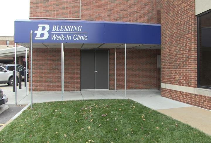 Outside look at the Blessing Walk-In Clinic.