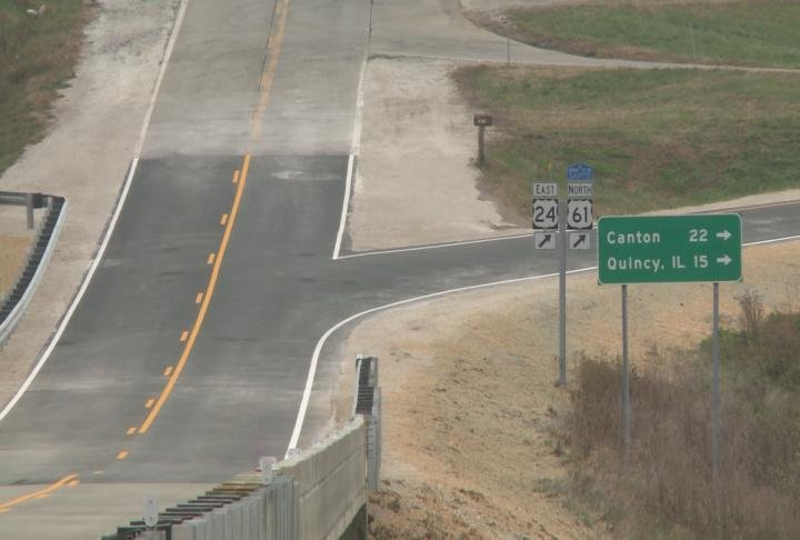 168 Overpass leads drivers to Canton and Quincy.