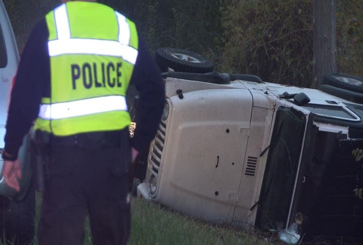 Crews respond to a single vehicle rollover