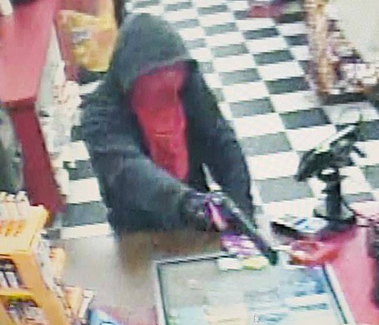 Surveillance photo released following the armed robbery.