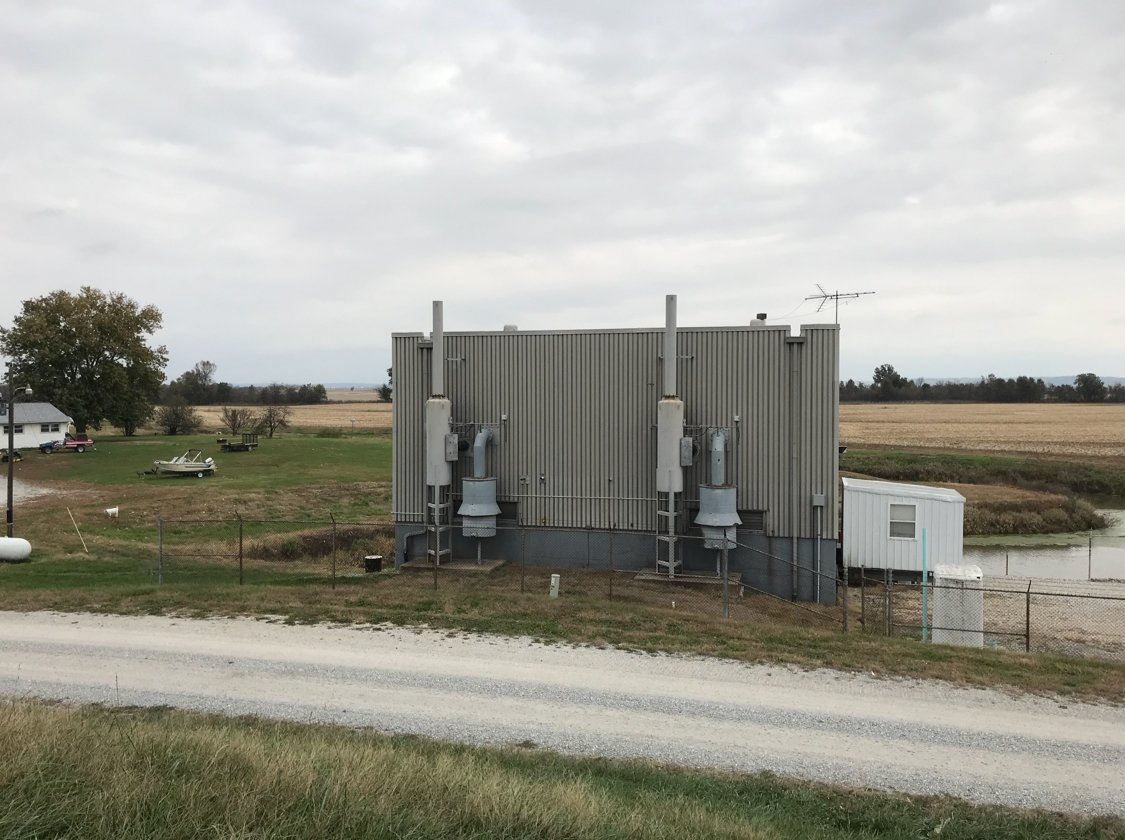 Pump station 1 outside of Hull, Illinois