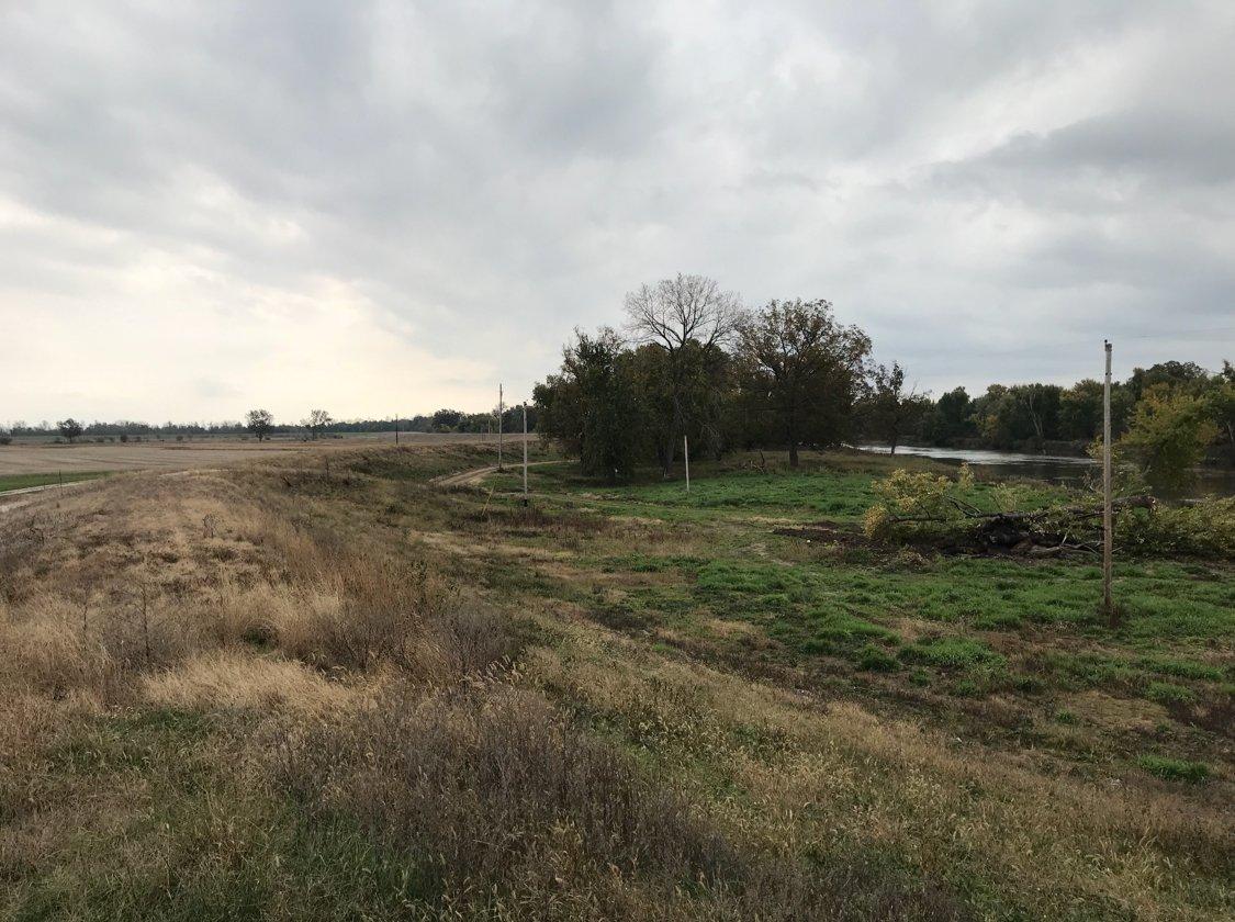 Part of the Sny Levee