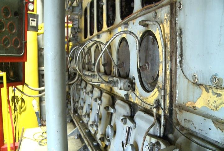 One of the pumps inside pump station 1