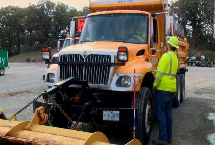 Snowplows and other equipment were inspected.