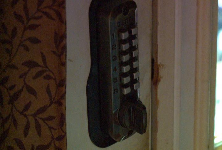 Locks put on doors to prevent Chloe from running away.