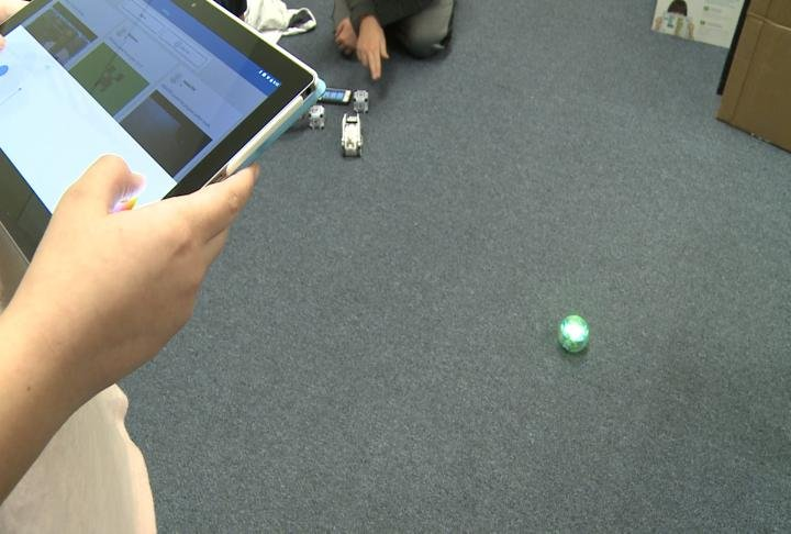Students can program the robots to complete a variety of tasks