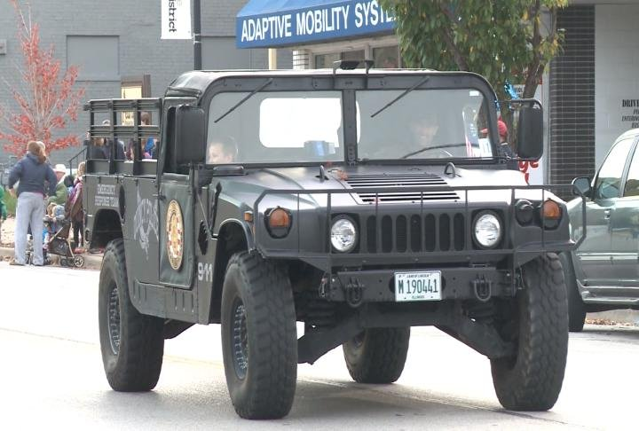 Military vehicles were driven in the Veterans Parade last year and plan to do the same on Saturday.