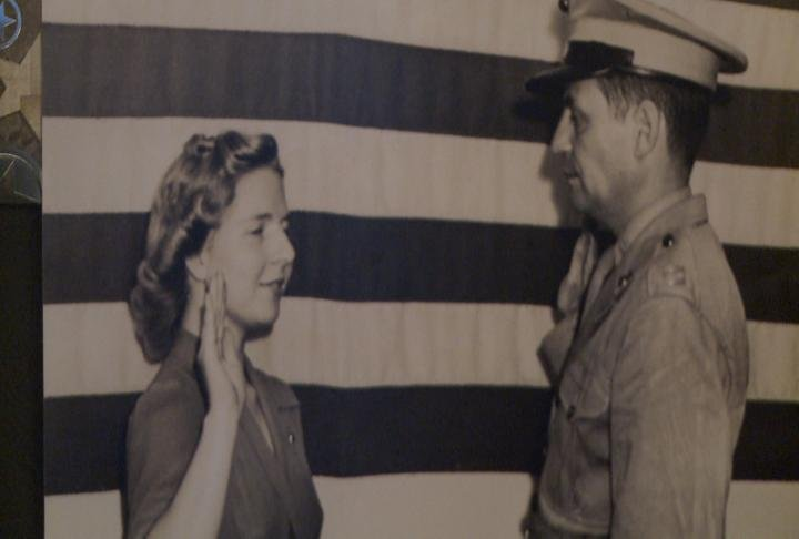 McClain gets sworn in during WWII.