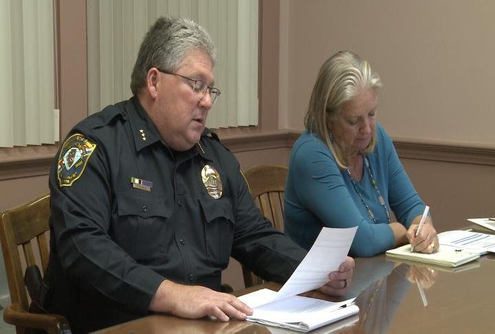 Quincy Police Chief Rob Copley talks during a meeting.