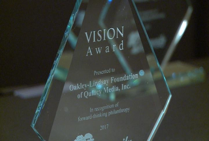 Vision Award presented to Oakley-Lindsay Foundation of Quincy Media, Inc.