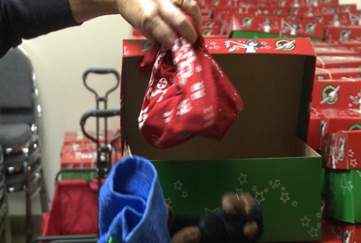 Items in the shoeboxes handed out to children all over the world.