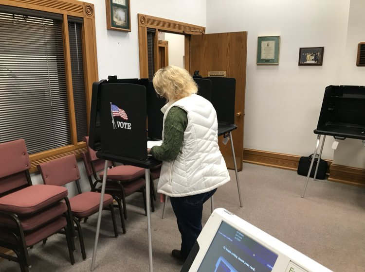 Voter in Keokuk during Tuesday's election.
