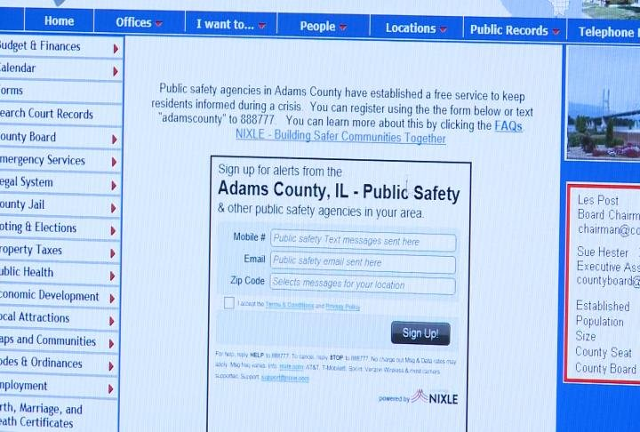 A look at the signup sheet on the Adams County website.
