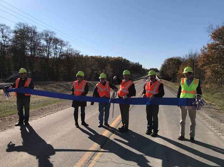Officials cut the ribbon at a ceremony Wednesday morning.