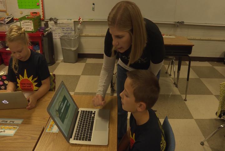 Teacher Melissa Edgar said PLCs have helped teachers.