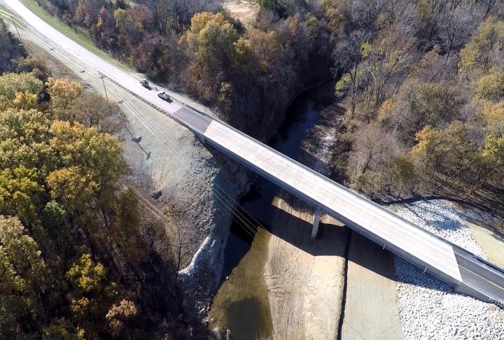 The new bridge just south of Monticello