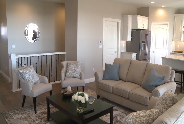 Living room inside the condominium.