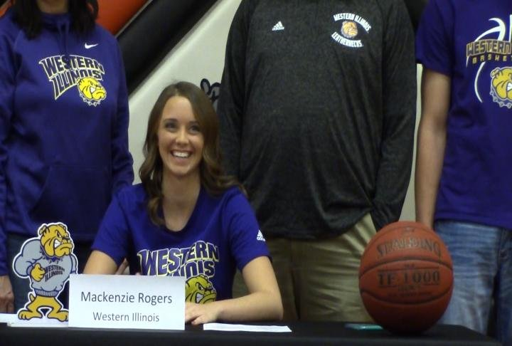 Mediapolis guard Mackenzie Rogers signed her national letter of intent with the WIU women's basketball program Wednesday.