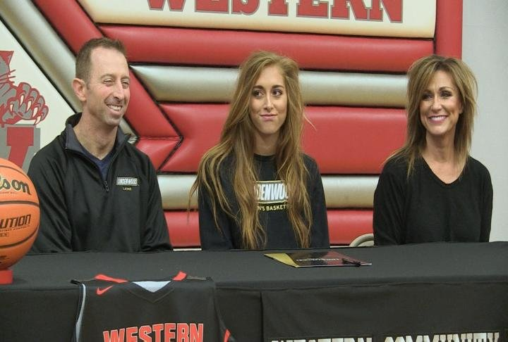 Western's Blair Borrowman made her commitment to Lindenwood official Wednesday.