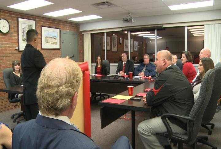 Hannibal School Board hears from 7 candidates vying for the open spot on the board.
