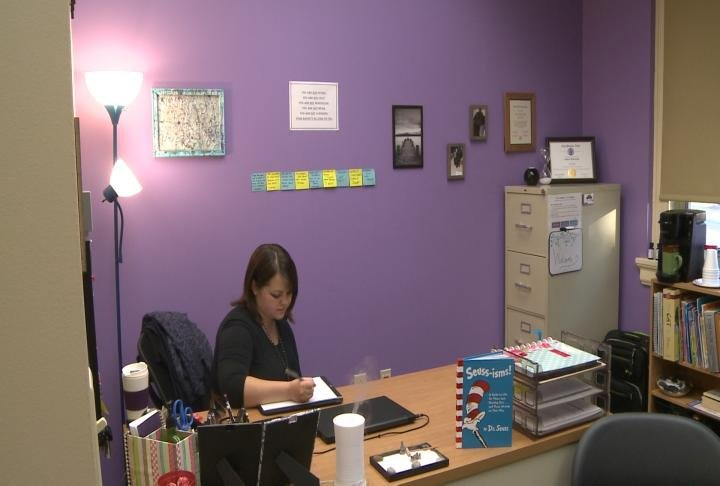 Counseling services are provided at the new school-based healthcare clinic.
