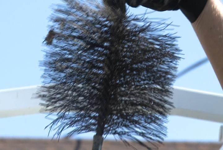 A chimney brush.