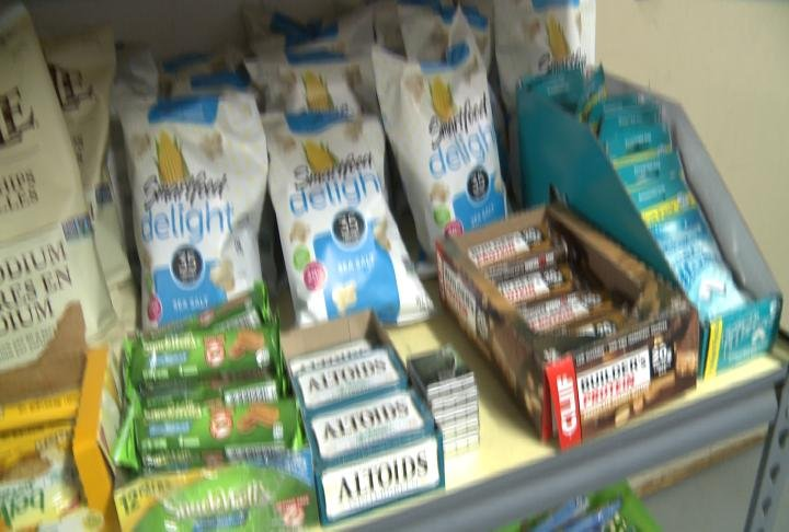 Food inside the Barry Food Pantry