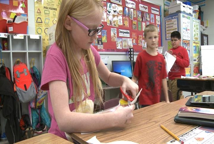 Students in class at Western Elementary School