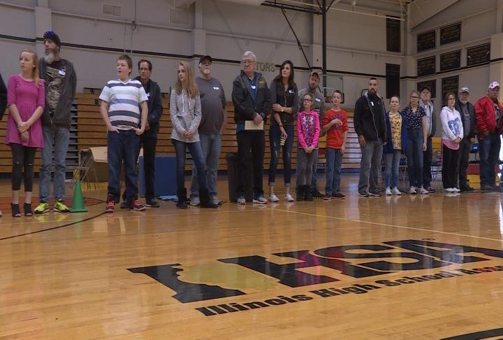 Students honored the veterans at the event.