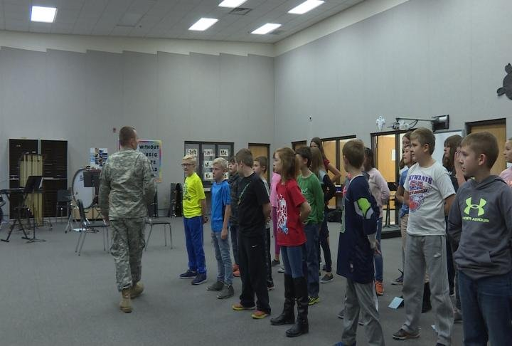 Students had the chance to take part in boot camp as well.