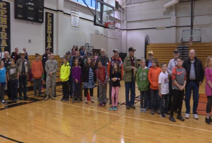 Veterans spoke with the students about their experiences.