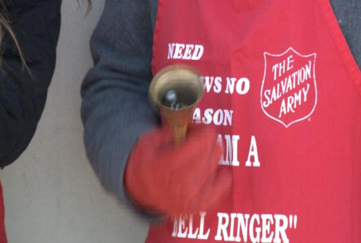 The Red Kettles are back for the Salvation Army's Christmas Campaign.