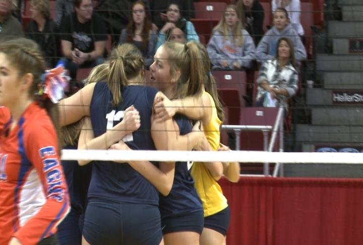 QND fought off Newton to win its semifinal match in straight sets to advance to the Class 2A state championship.