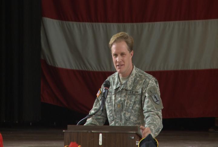 Moore giving a presentation.