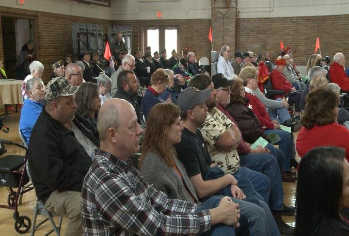 Big attendance for a ceremony that honors many local veterans.